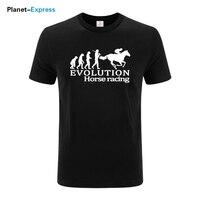 Newest Men S 100 Cotton T Shirt Short Sleeve Summer T Shirt Horse Riding Competition Print