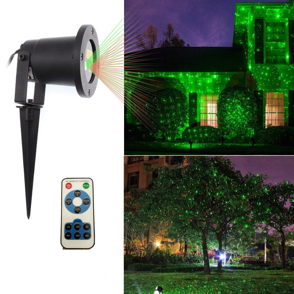 Outdoor Laser Landcape Lights Red Green Light Projector Stage Lighting Effect for Garden IP65 Waterproof Christmas Holiday Lamp