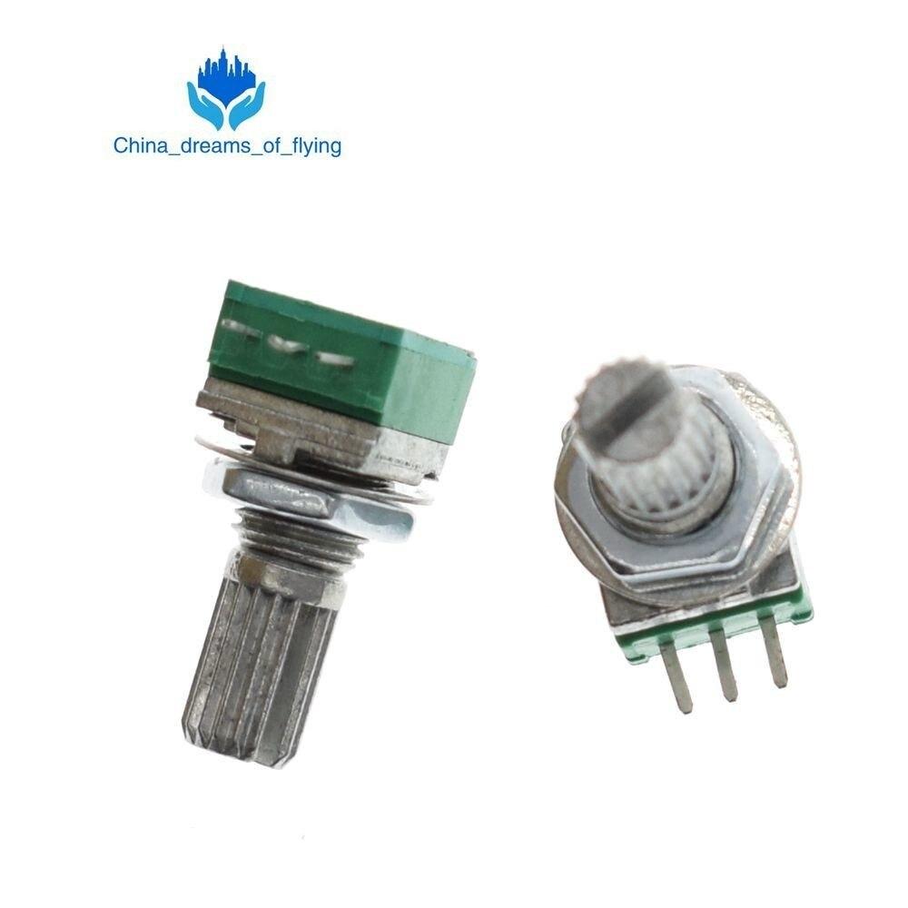 10pcs B5K RK097N Audio Amplifier Sealed Potentiometer 15mm Shaft 3PINS