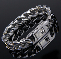 Hot Male Models Fashion Titanium Steel Bracelet Jewelry Fashion Personality Vintage Lace Hand