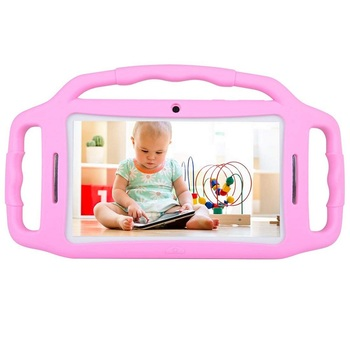Russian Warehouse Shipped Tablet PC Android 7.1 Kids Tablet 7″ HD Screen 1GB/8GB Babypad Edition PC WiFi Dual Camera Play Games