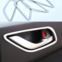 Для Mazda 6 Atenza Gj 2013 хромированная внутренняя дверная ручка чаша крышка отделка рамка литье украшения