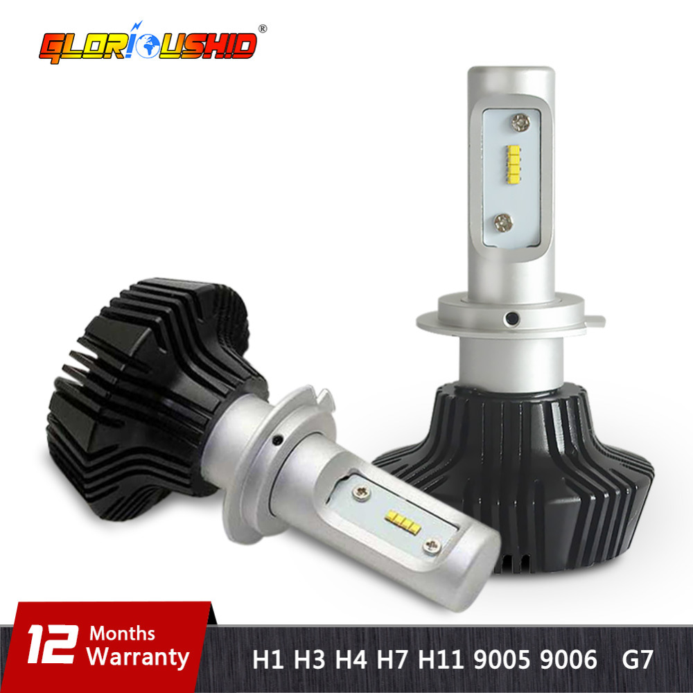 Auto H4 Cahaya H7 Led H11 H3 H1 9005 9006 ZES Chip Mobil LED - Lampu mobil - Foto 1