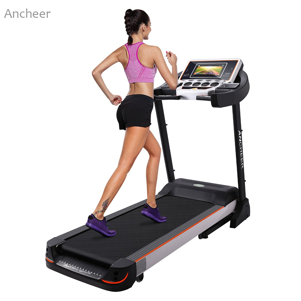 Motorized Treadmill Fitness Folding Electric Treadmill Exercise Equipment Running Jogging Machine LED Display WiFi ancheer fitness folding electric treadmill exercise equipment motorized treadmill gym home walking jogging running machine page 2