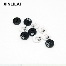 11.5mm 100pcs Resin White Buttons Round Two Holes Wooden Suit Shirt Transparent Clear accessorie Sewing Fastener