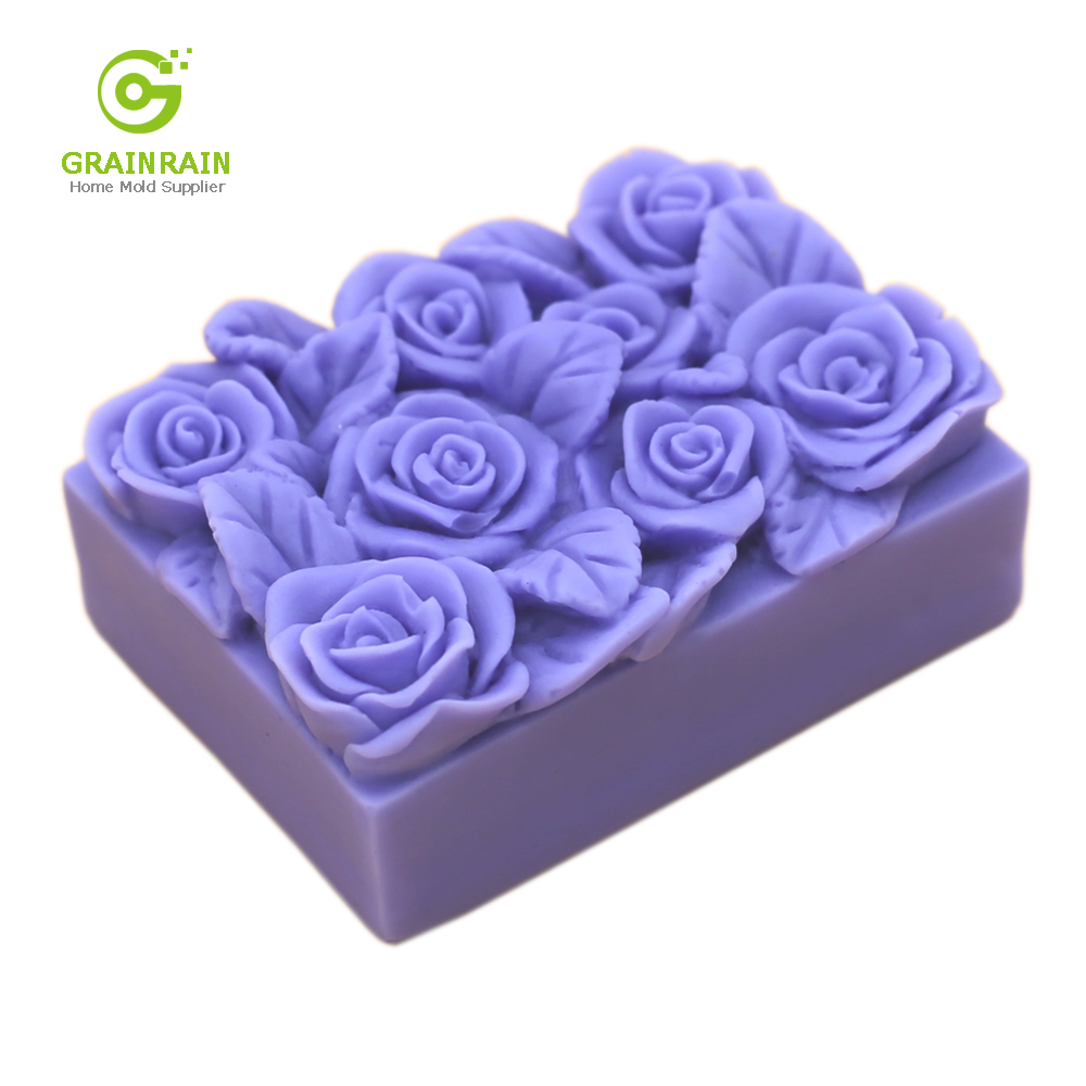 Flower Soap Molds for Soap Making Rectangle Silicone Soap Molds Flower Basket