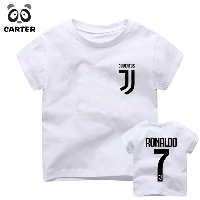 New 2018 Children s Juventus Cr7 Name Cristiano Ronaldo 7 T-Shirt Boy and  Girl Short Sleeve O Neck T Shirts Kid Clothes d716a0912
