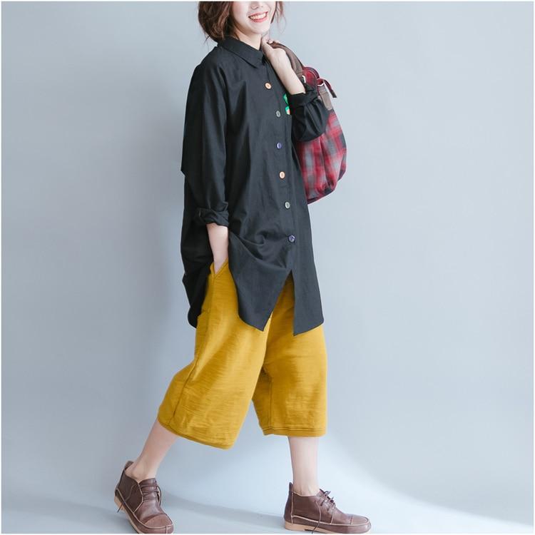 f97c077a5246 4XL 5XL 6XL Tallas grandes Mujeres Blusa Casual Larga Floja camisa de Manga  Larga de Las Mujeres Tops Camisas de Gran Tamaño de Camisas de Mujer SY1278  en ...
