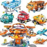 Créateur ville Les pieuvre poulpe Octonauts dessin animé blocs de construction briques modèle Compatible LGSET Duplo cadeaux jouets éducatifs