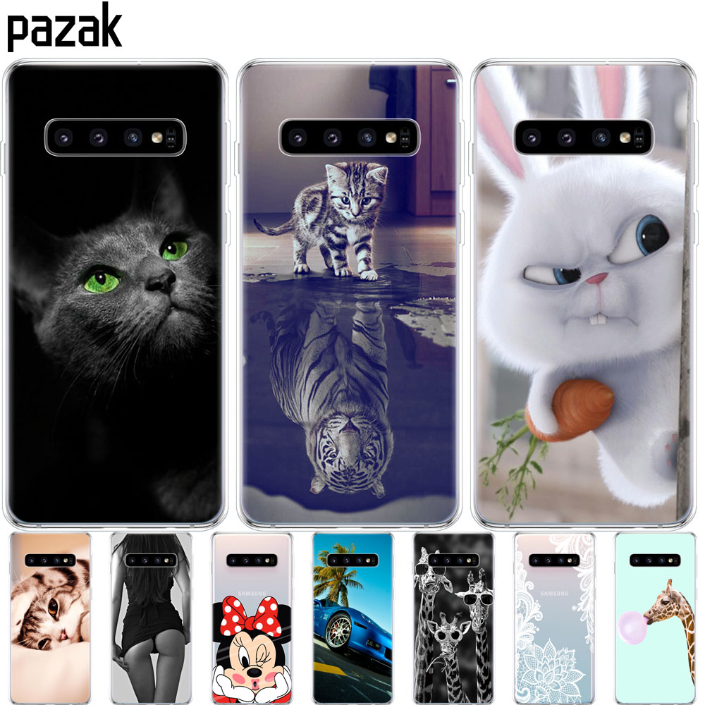 For Samsung Galaxy S10 Case S10Plus Case Silicone TPU Cover Phone S10 E Case On For Samsung S10 Plus G975F S 10 SM-G973F Case(China)