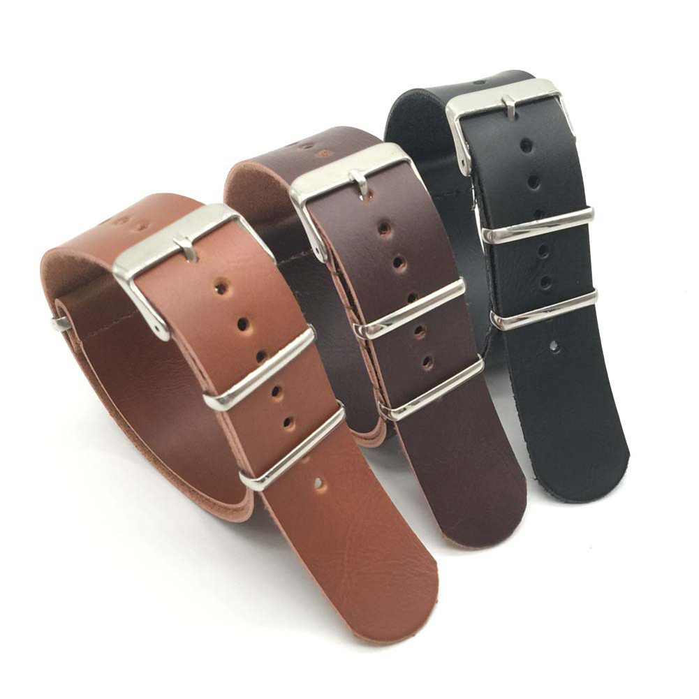 PU Leather Watch Band Metal Buckle Watch Strap Men Women Soft Watches Strap LXH