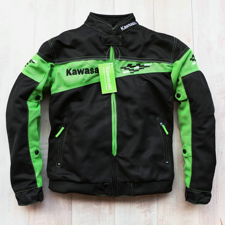 Motorcycle Riding Jacket For Kawasaki Team Racing Motocross Jackets With ProtectionMotorcycle Riding Jacket For Kawasaki Team Racing Motocross Jackets With Protection
