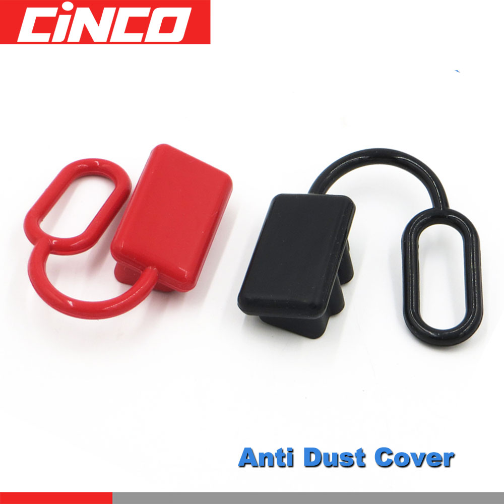 600V <font><b>50</b></font> <font><b>120</b></font> 175 350 A Anti Dust Cap Cover end SH120 plug connector 120amp dual pole battery SH120 Rubber Red or Black image