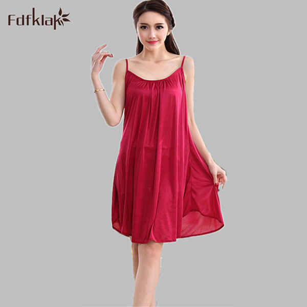 XXL XXXL Plus Size Sexy Sleeping Dress Women Sleeping Dress Nightdress For Women  Satin Nightdress Ladies 9ad16611ab0b