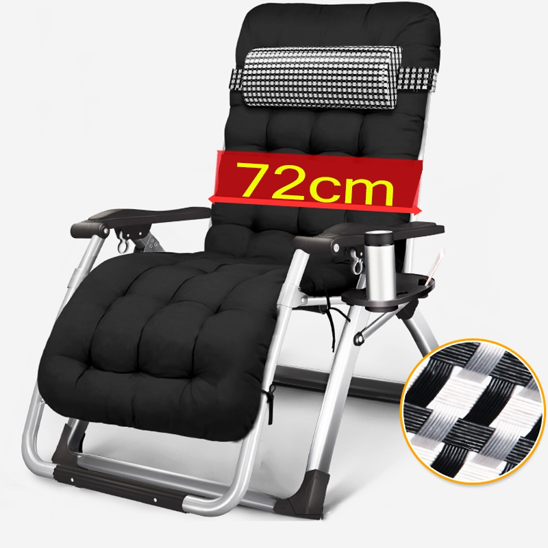 Zero Gravity Lounge Chair with Pillow Office computer chair Nap bed Adjustable Folding Recliner for Patio, Yard, Outdoor Chair