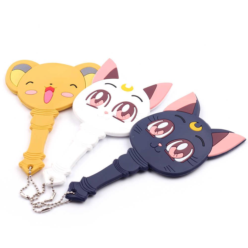 Nette Card Captor Sakura Zauberstab Traumhafte Hand Spiegel Kawai Machen Up Griff Spiegel Luna Katze Spiegel Mädchen Tragbare Anime Cosplay