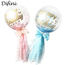 5 inches Clear Cake Decoration Balloons Confetti Baloon For Birthday Kids Party Decorations Babyshower Girl Boy Ballons