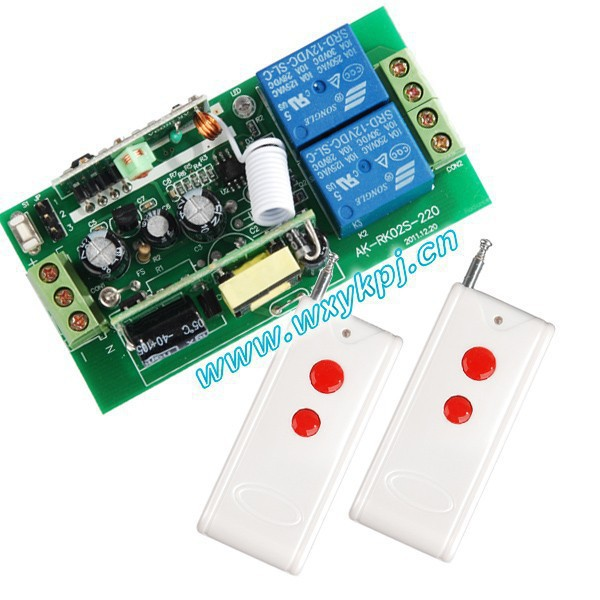 Free Shipping85V-280V Wide Range Output RF wireless remote control system 1 Receiver & 2 Transmitter free shipping best price wide range voltage 85v 250v 30a 1ch rf wireless remote control system 1 remote