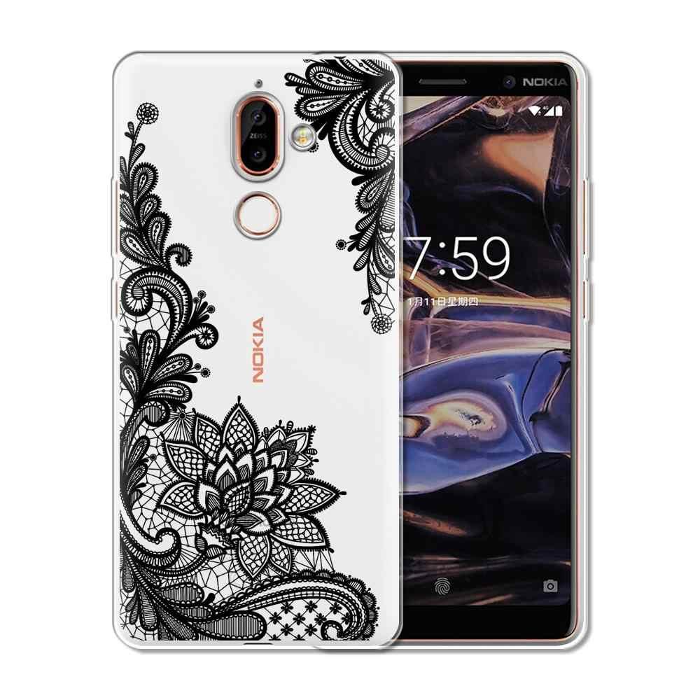 8060baf6fc ... Floral Lace Mandala Case For Nokia 3 2 1 5 8 7 Plus Cases Soft TPU ...