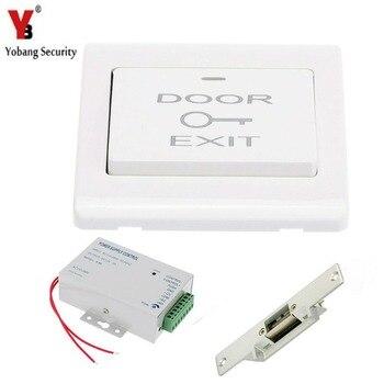 Yobang система контроля доступа для домашних ворот с электрическим магнитным замком + Переключатель выхода + источник питания DC12V