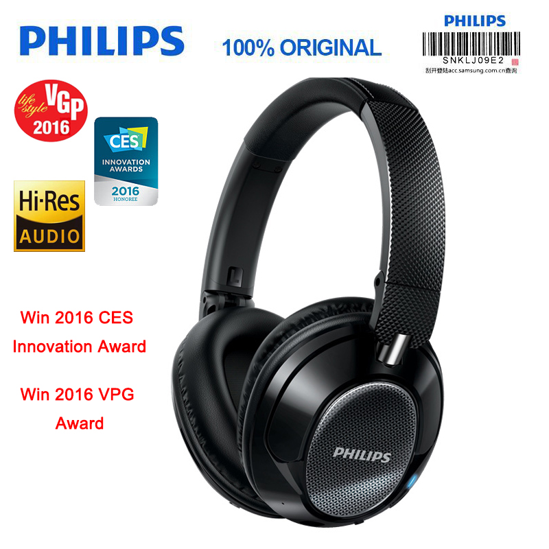 Philips Original SHB9850 Active Noise Cancelling Wireless Bluetooth Headphones NFC Headset with Microphone Official Verification e 3lue ebt922 nfc bluetooth headset black