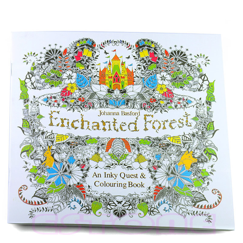 High Quality New An Inky Enchanted Forest Treasure Hunt And Coloring Book By Johanna Basford