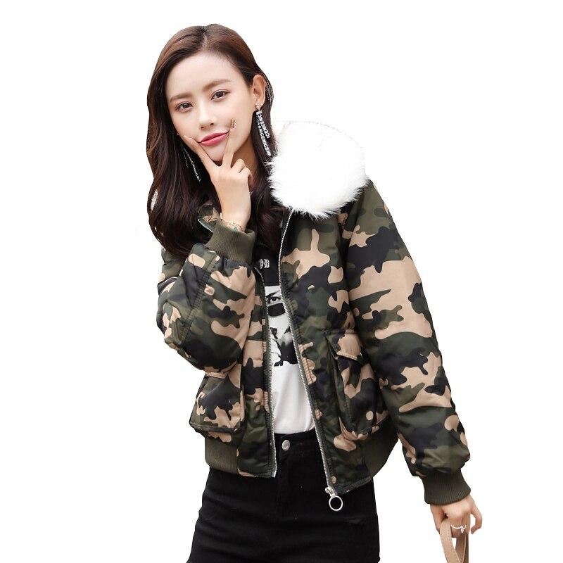 Jacket Clothing Casual Thermal Basic Coat Women Short Thick Parka Outwear Top Zipper Warm Collar 1 Fashion Fur Female Winter 5BqT41
