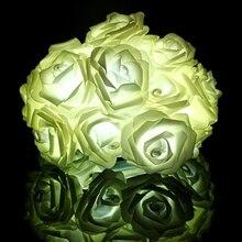 Modern Design Rose Flower Fairy String 20 LED Night Light Lamp Wedding Party Christmas Decor Durable