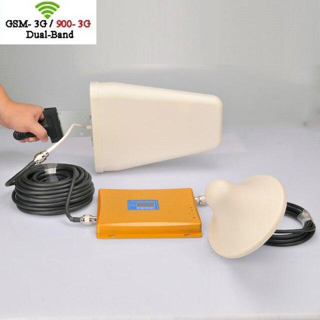 Высокая мощность Celliintech Полный набор 2 Г 3 Г dual band усилитель сигнала GSM 900 мГц 2100 мГц Dual Band cellpone Усилитель Сигнала Повторитель