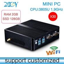 Computer Case,3805U,DDR3 2G RAM 128G SSD, 12V Laptop Adapter, Fanless Motherboard, DDR3 Ram ,Mini PC Tablet Computer