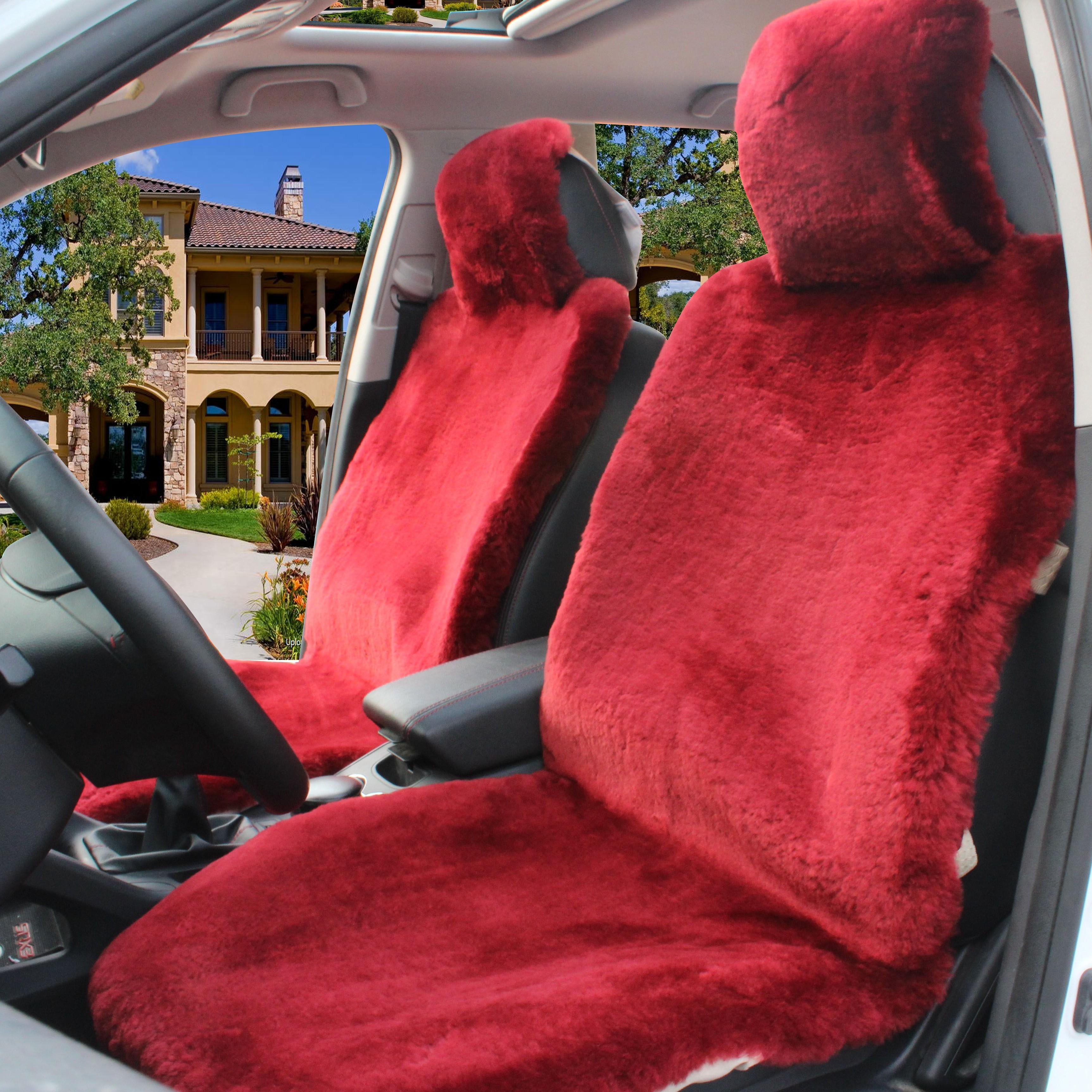 Assentos de carro almofada de lã de inverno curto de pele de ovelha tosquiada um peça pulvinis assento especial cobre feminino frete grátis quente em venda