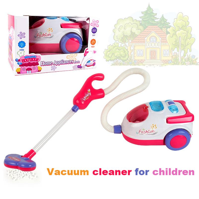 NEW  Vacuum Cleaner With Music And Light Cosplay Educational Toy For Kids For Girls Gift Toys Dust Collector Pretend Play Toy