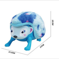 Interactive intelligent induction bucket hedgehog electronic pets plush hedgehog animal toys for children electronic toys gifts