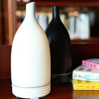 Diffusore Di Olio Essenziale Di Ceramica | VVPEC 100ML Di Ceramica Aroma Ad Ultrasuoni Umidificatore Dell'aria Diffusore Semplicità Di Loto Purificatore Atomizzatore Diffusore Di Olio Essenziale Difusor