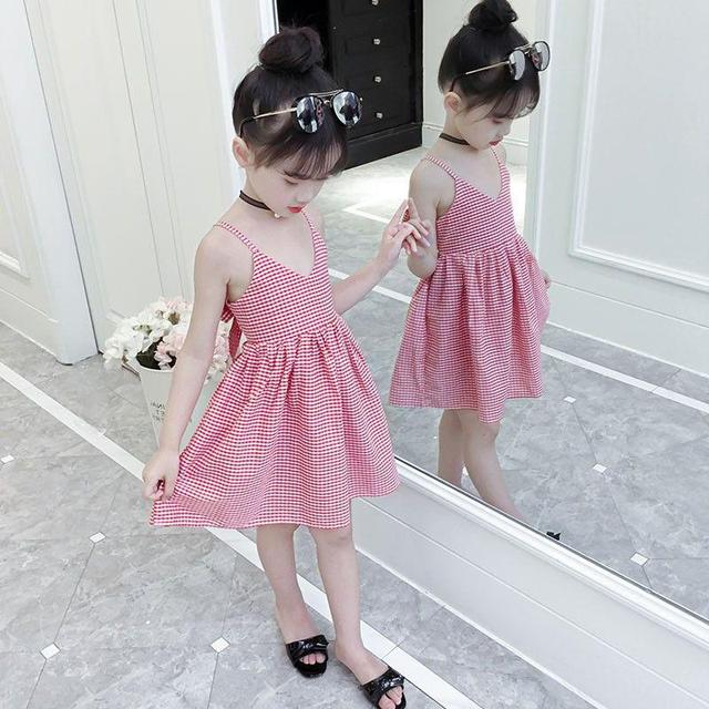 Kids Dress Backless Girls Dress Summer Dress Bow Design Wedding Birthday Party For Girls Sleeveless For 18m To 7 Yeas Girls