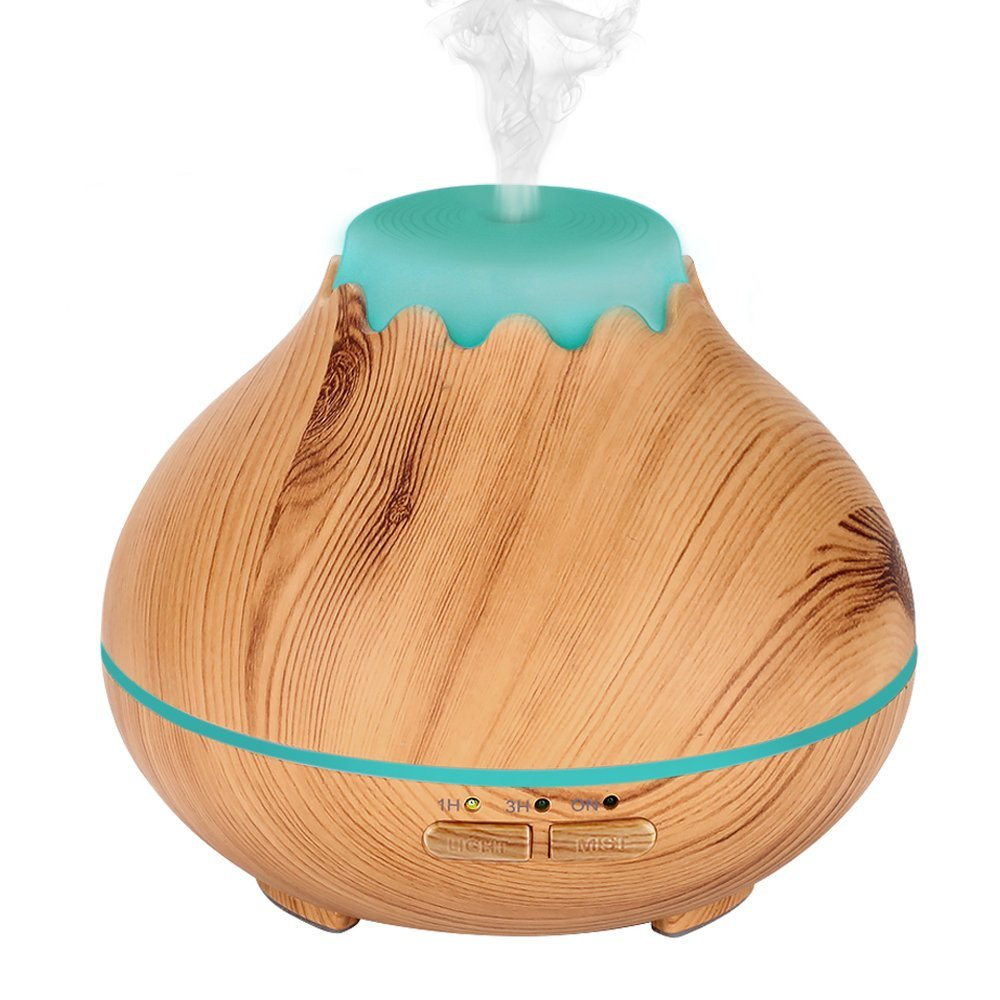 TSUNDERE L Air Humidifier Ultrasonic Aroma Essential Oil Diffuser Cool Mist Maker Aromatherapy Wood Grain 7 LED Nights for Home bm 03k 100 240v home ultrasonic essential oil aroma wood diffuser aromatherapy water humidifier mist maker 20 30ml h