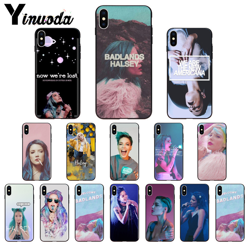 US $1 01 49% OFF|Yinuoda Halsey Colors Lyrics Badlands Smart Cover Black  Phone Case for Apple iPhone 8 7 6 6S Plus X XS MAX 5 5S SE XR Cover-in