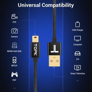 Image 2 - TOPK przewód USB Mini Mini USB do USB szybki kabel do ładowarki Data Sync dla telefon komórkowy aparat cyfrowy MP3 MP4 odtwarzacz tabletki GPS