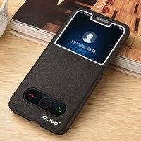 Para Huawei Honor 10 funda 64GB Cuero de lujo vista ventana caso del tirón para Huawei Honor 10 cubierta de libro pie de apoyo COL-L29 carcasa de teléfono piel