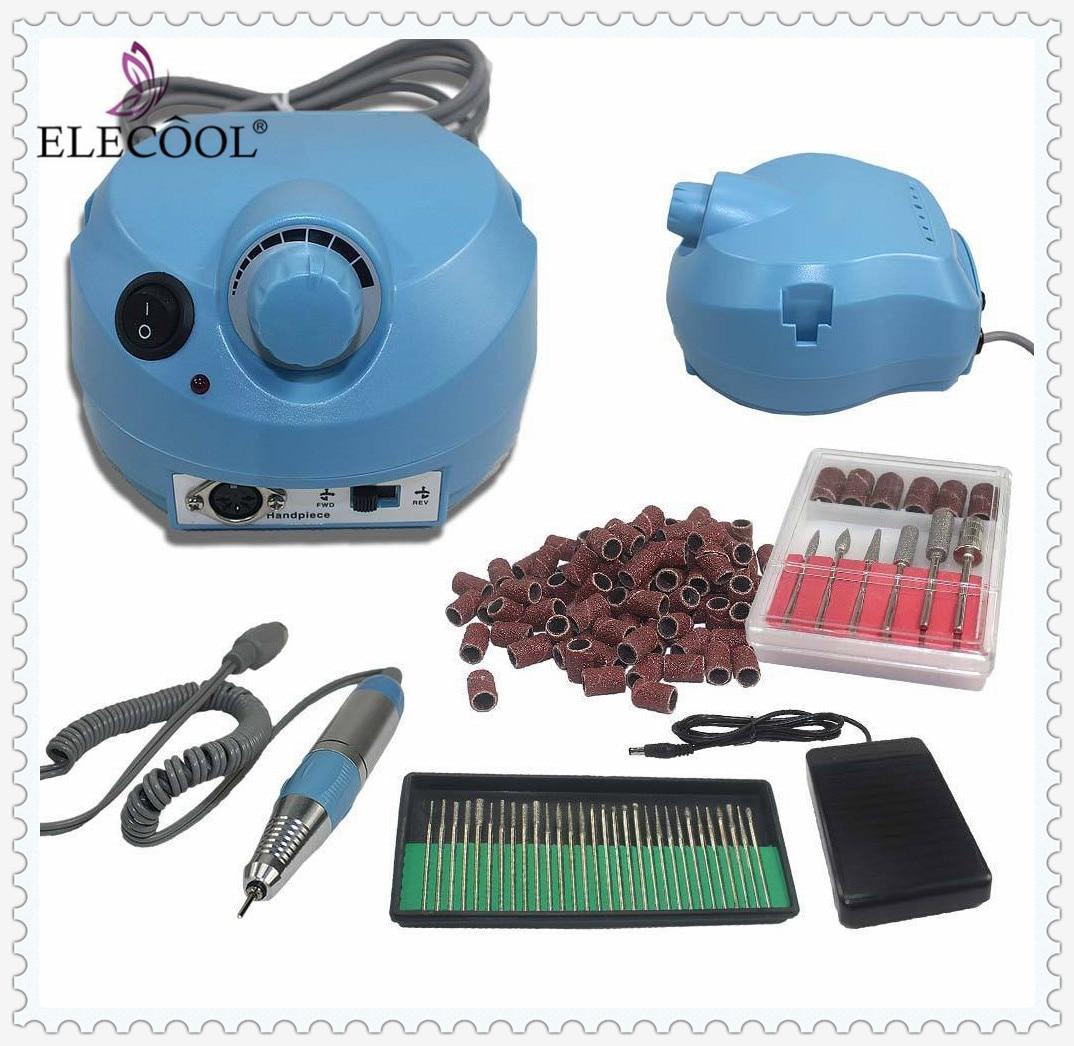 2018 Electric Nail Art Drill Machine EU Plug 25000RPM Nail File buff Cutters for Manicure Pedicure Kit Nail Art Equipment  HWC