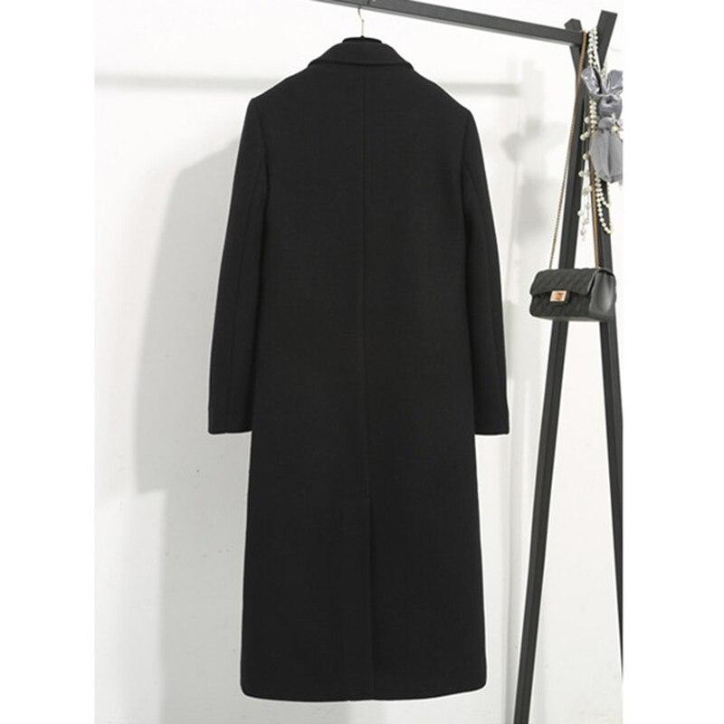 Vestes Mode 3xl Plus Long Taille Dame La Casual Black De 522 Chaud Manteaux Colour 2019 Laine Épaississent Automne caramel hiver Femmes Survêtement Slim OPpnYa