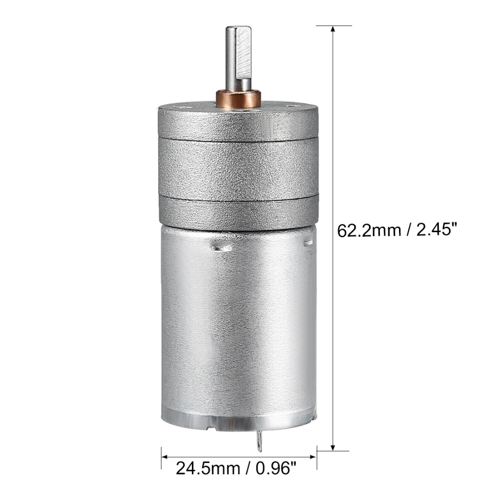 Image 3 - Uxcell Newest DC mini Gear Motor 6V 80mA 1363RPM 0.1kg.cm Loading Torque High Temperature Resistance DIY Electrical Appliances-in DC Motor from Home Improvement