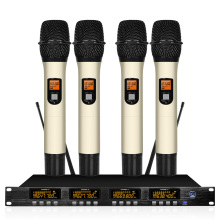 Four Channel Wireless Conference Microphone System Professional 4 Dynamic Handheld
