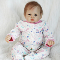 Wholesale Price 22 Inch Reborn Baby Dolls Newborn Silicone Boy Babies Cloth Body Lifelike Doll Toy Kids Birthday Xmas Gift
