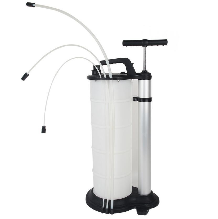 7L Manual Vacuum Fuel Petrol Pump Transfer Syphon Suction Oil ...