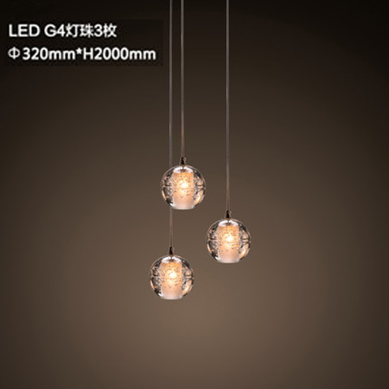 3 lamp holder modern led pendant lamp contracted crystal ball 3 lamp holder modern led pendant lamp contracted crystal ball pendant light restaurant coffee shop personality art deco lighting in pendant lights from mozeypictures Choice Image