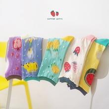 Летние новые дизайнерские женские тонкие носки с изображением клубники, банана арбуз носок с фруктами милые 5 пар в партии