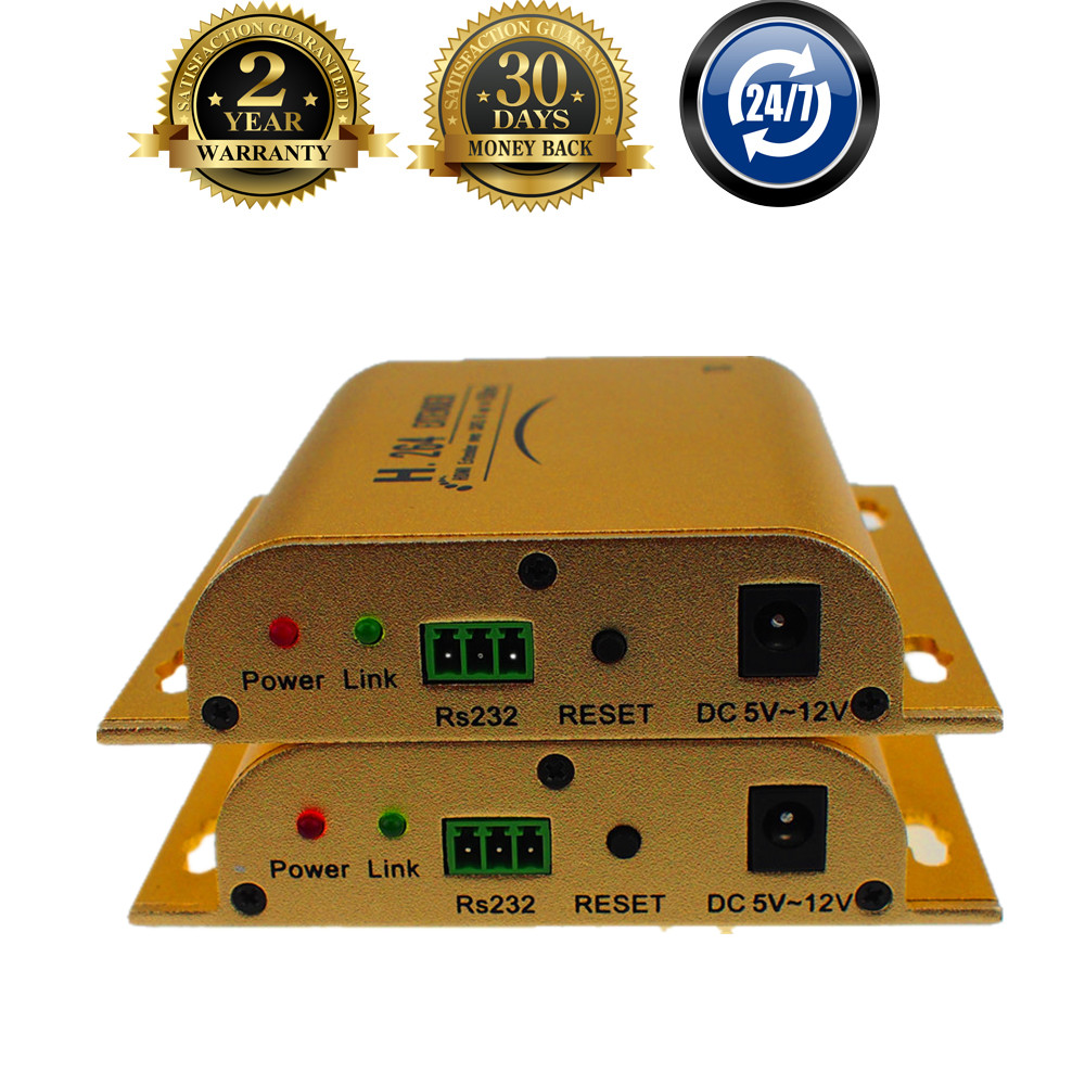 ZY HHE12 Support IR RS232 Loop Out H 264 HDMI Over TCP IP Extender 120m By