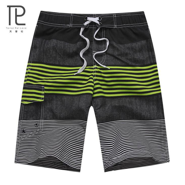 Men Striped Beach   Shorts   Quick Dry Running   Shorts   Swimwear Swimsuit Swim Beachwear stroj kapielowy   Shorts     Board     Shorts   Plus Size