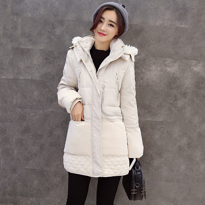 Winter Plus Velvet Thick Women Down Jackets Fashion White Duck Down Hooded Coats Autumn Warm Slim Casual Down Parkas YP1099